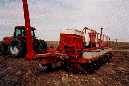 Here 13 Row Units Are Raised So That 12 Rows Of Corn Can Be Planted At 30 Spacings Also Note The Cumbersome Rails OSHA Regulations Useful When